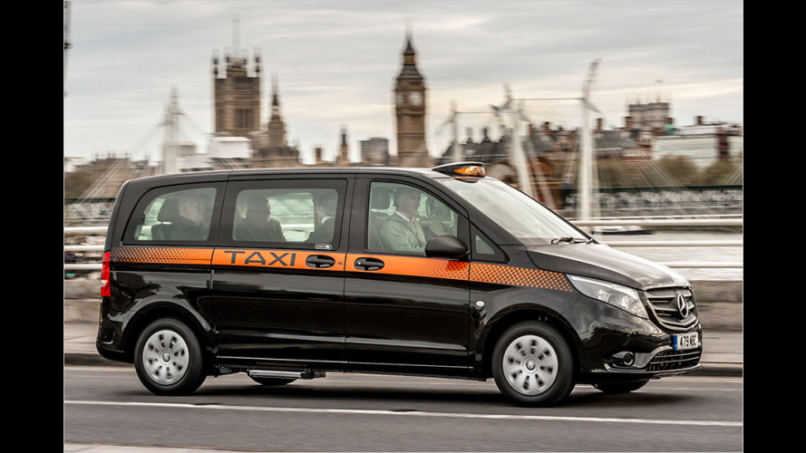 Neues Mercedes Vito London-Taxi