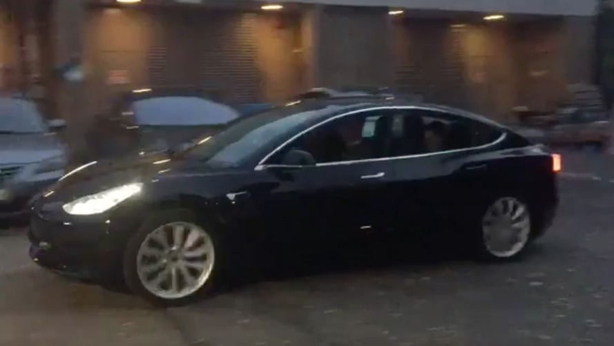 Elon Musk Posts First Drive Of Tesla Model 3 Release Candidate - Video