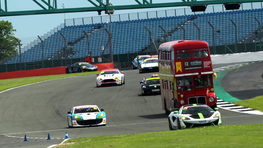 Watch This British Bus Turn Laps With Race Cars At Silverstone