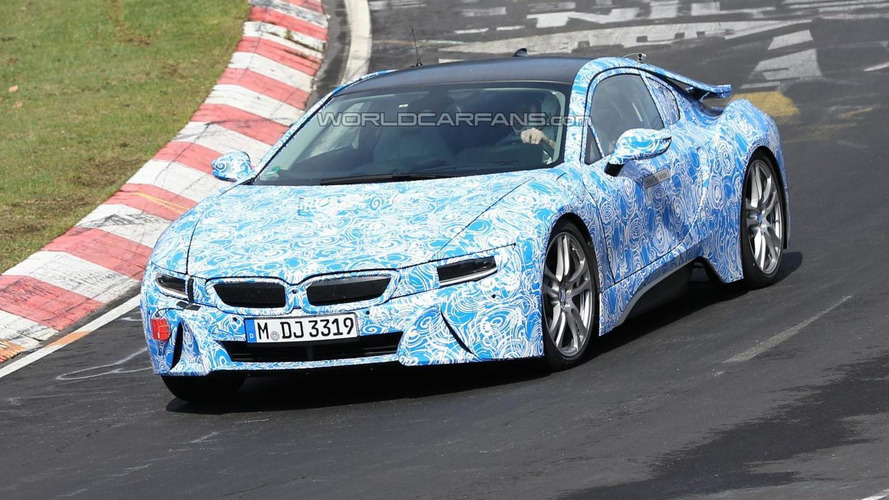 Bmw I8 Spied At Nurburgring With Production Taillights