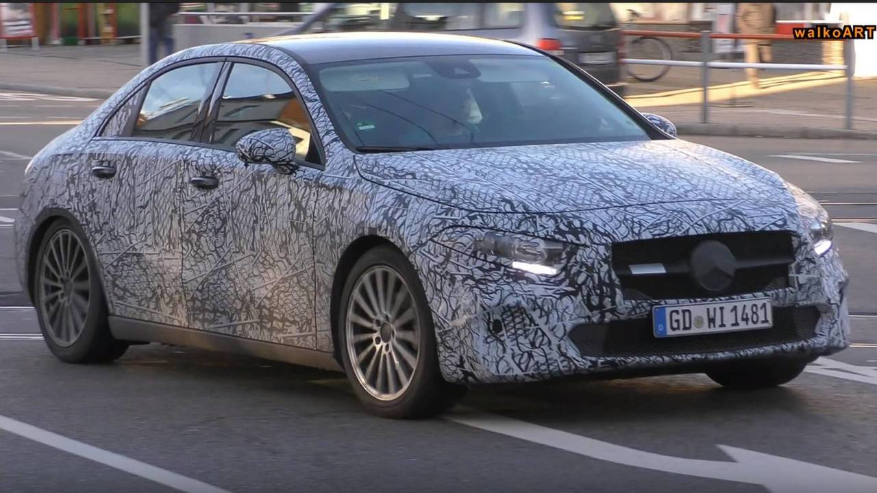 2018 Mercedes-Benz A-Class Sedan spy photo
