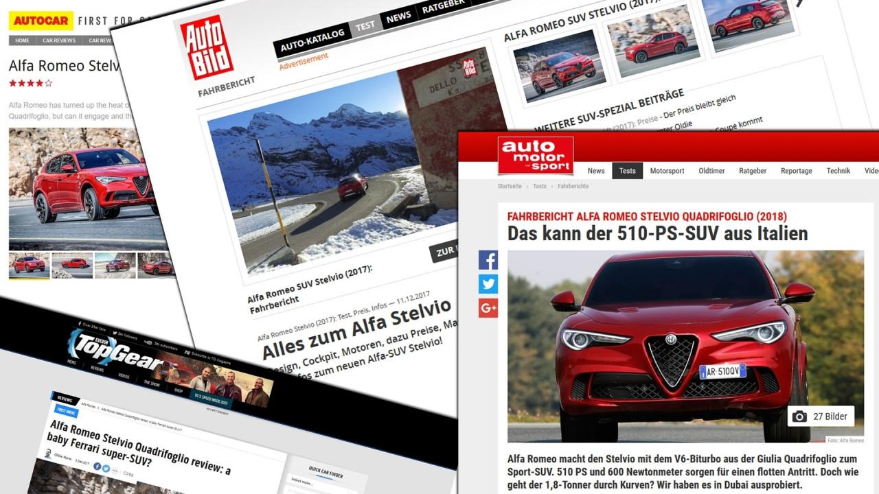 [Copertina] - Alfa Romeo Stelvio Quadrifoglio, all'estero la giudicano così