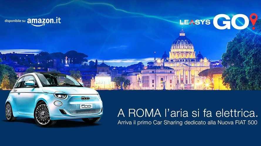 Car sharing a Roma: come e quanto costa la Fiat 500 elettrica