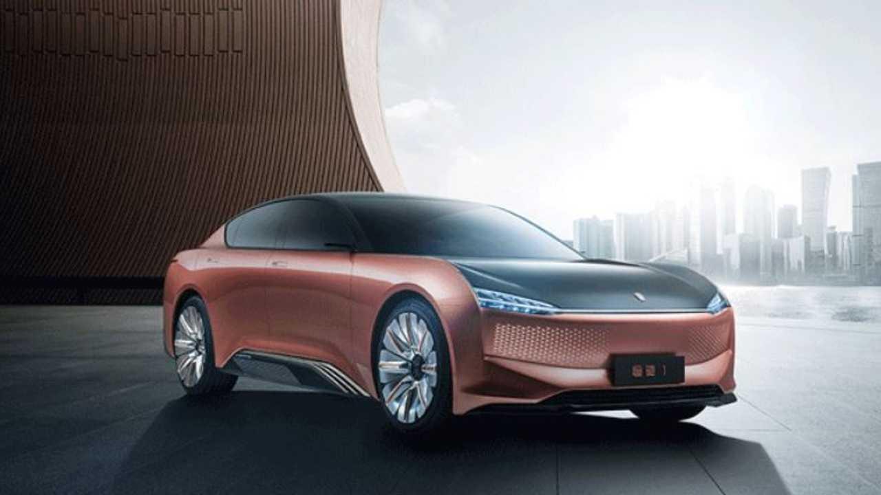La concept Evergrande a marchio Kongchi presentata al Salone di Shanghai del 2021