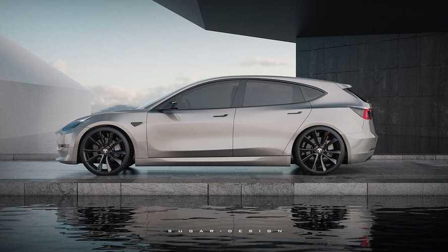 Aspettando la Tesla Model 2, ecco come sarebbe la 3 shooting brake