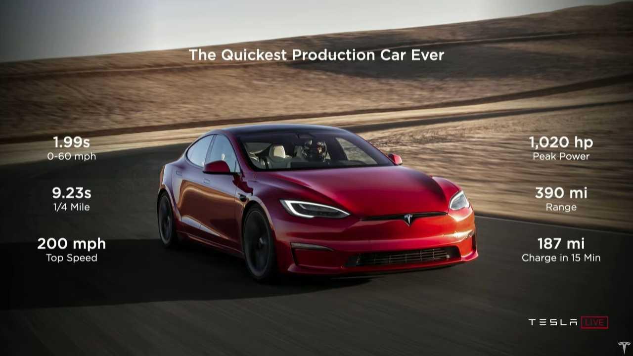 Начало поставок Tesla Model S Plaid
