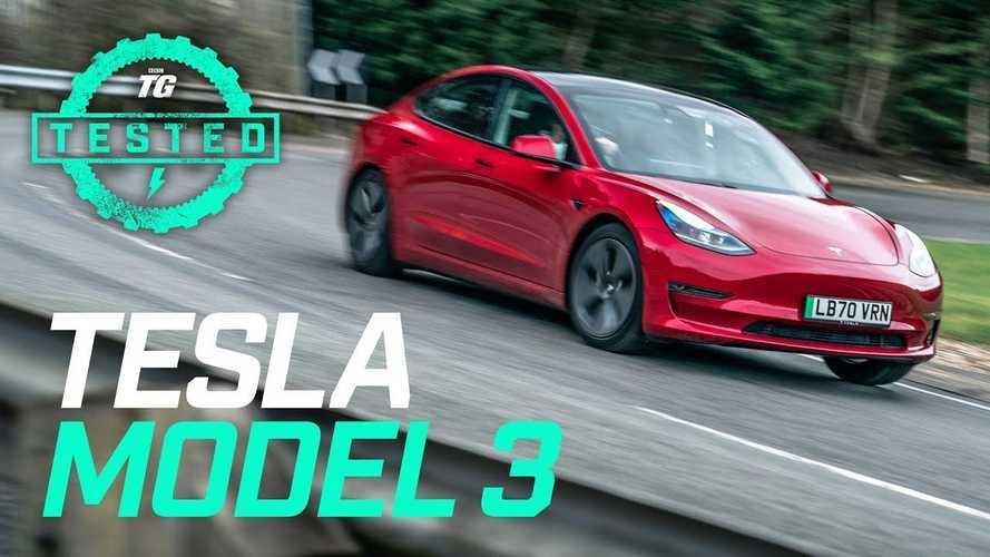 Top Gear's 2021 Tesla Model 3: 0-60, Ride, Handling, & Autopilot