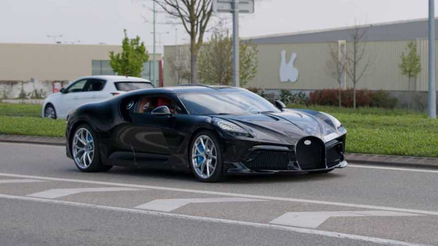 One-Off Bugatti La Voiture Noire Spotted In The Wild For The First Time