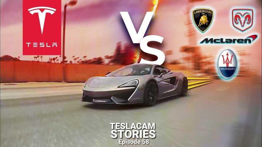 TeslaCam Captures Supercars Racing Teslas On Public Roads