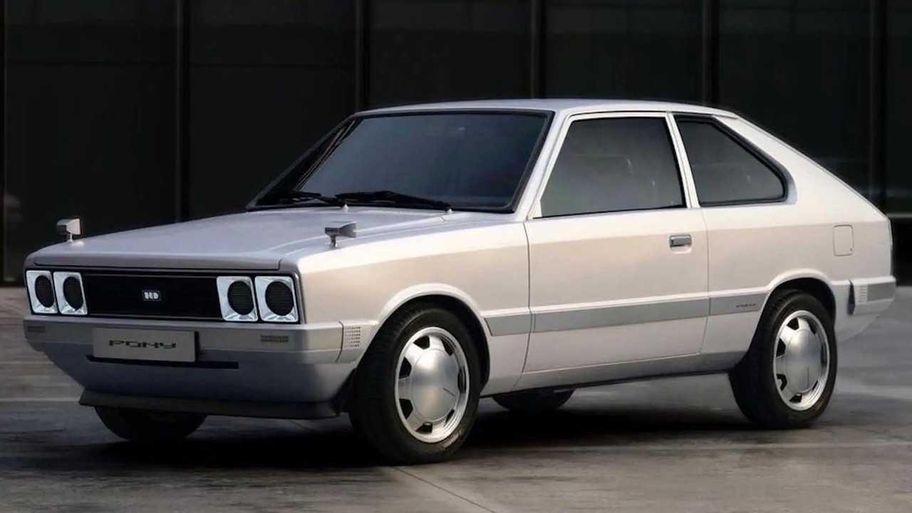Hyundai Pony von 1975 als elektrischer Restomod
