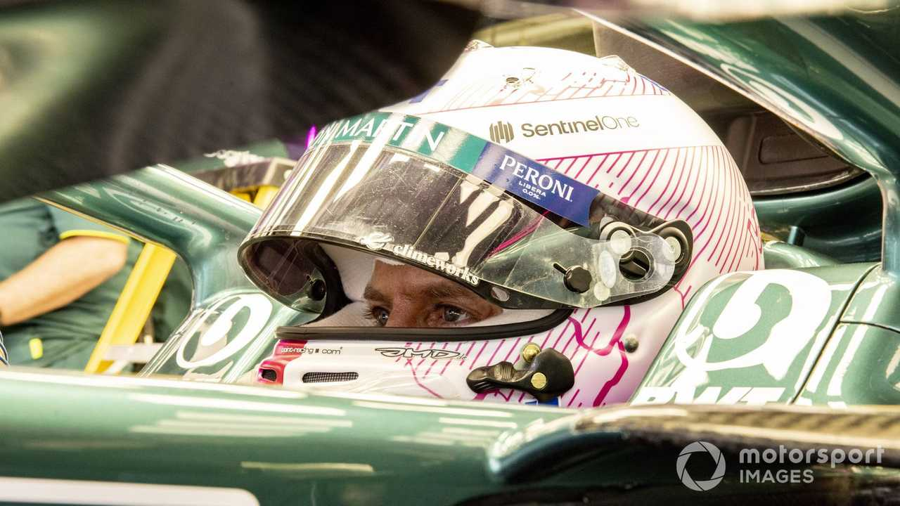Sebastian Vettel at Bahrain March testing 2021