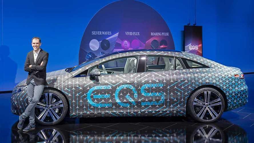 Mercedes EQS, teaser design e interni