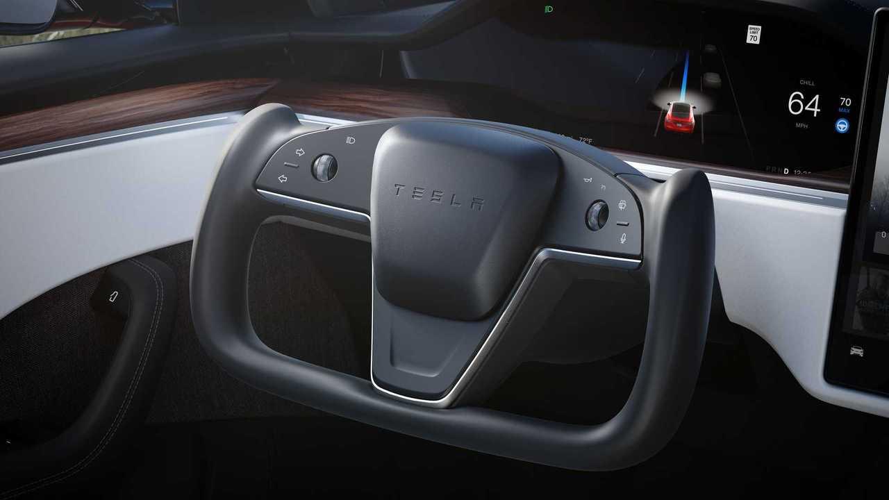 Tesla Model S interior - yoke