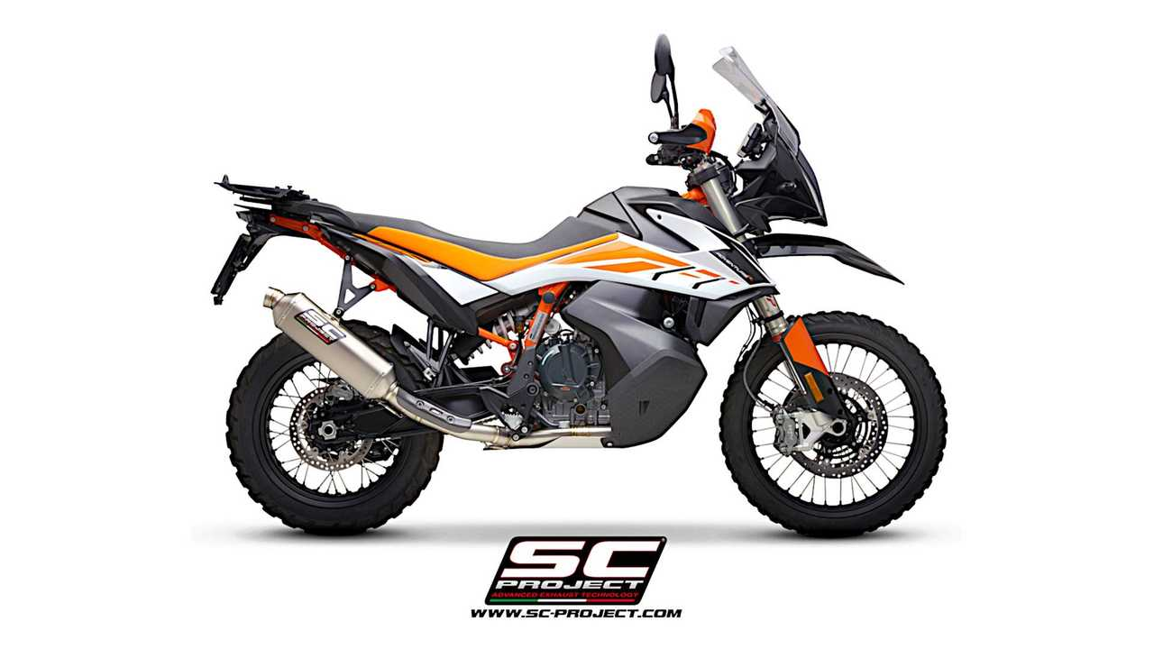 SC Project Full Titanium 2-Into-1 Exhaust System For KTM 890 Adventure - Right Side View
