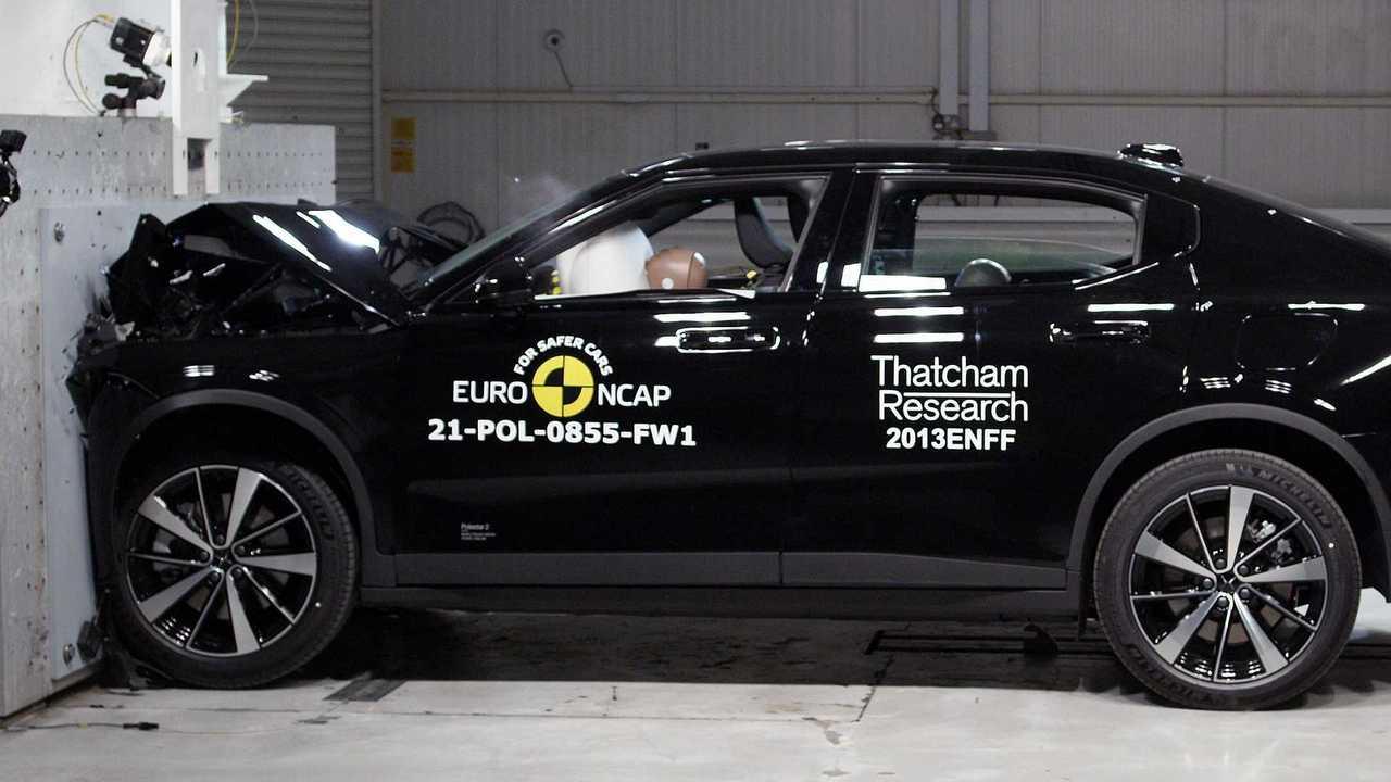 2021 Polestar 2 Euro NCAP összeomlási teszt
