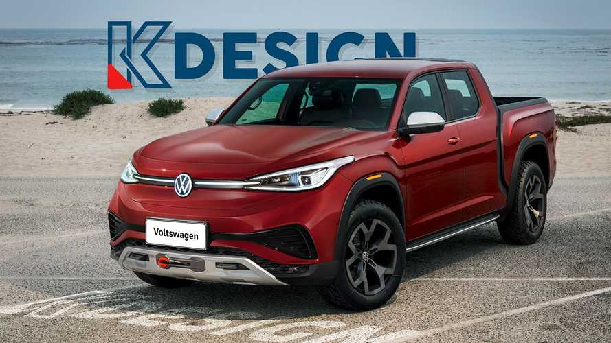 KDesign Hints At Electric Volkswagen Pickup Truck With New Render