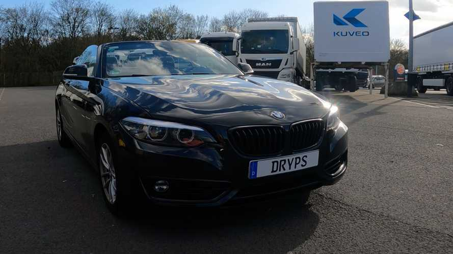 BMW 218i Cabrio uses all 134 bhp for heroic Autobahn top speed run