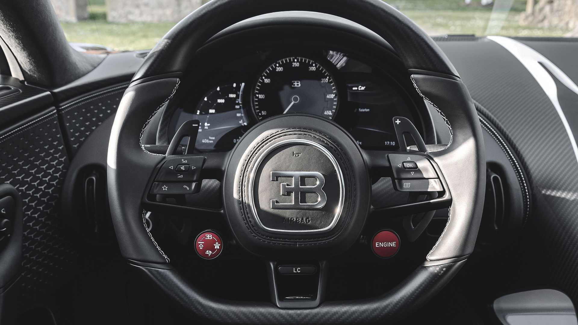 2021 Bugatti Chiron Steering Wheel