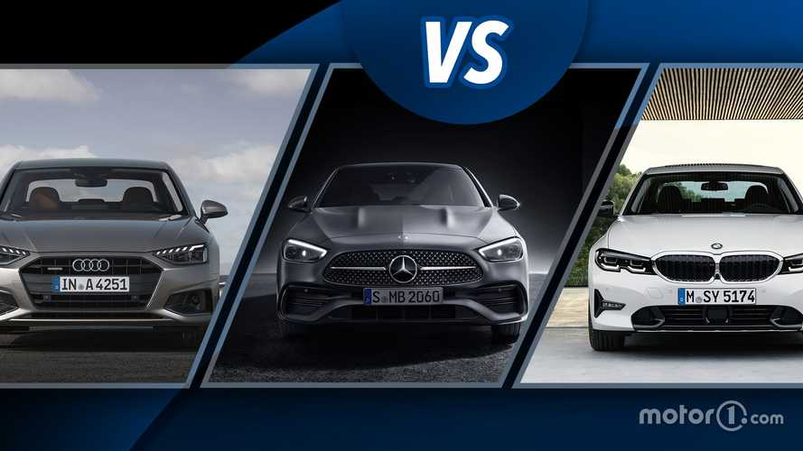 Neue Mercedes C-Klasse gegen Audi A4 und BMW 3er-Reihe