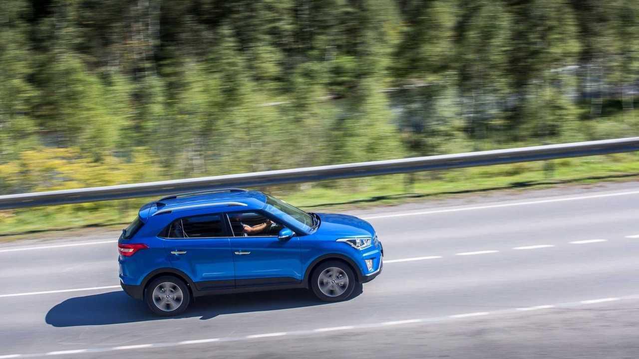 Hyundai Creta на шоссе