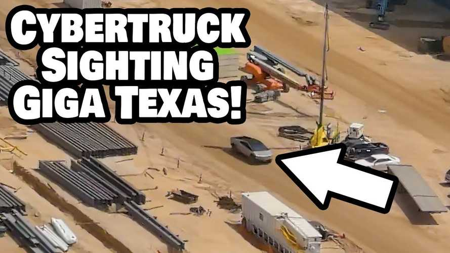 Tesla Cybertruck Seen Driving At Giga Texas