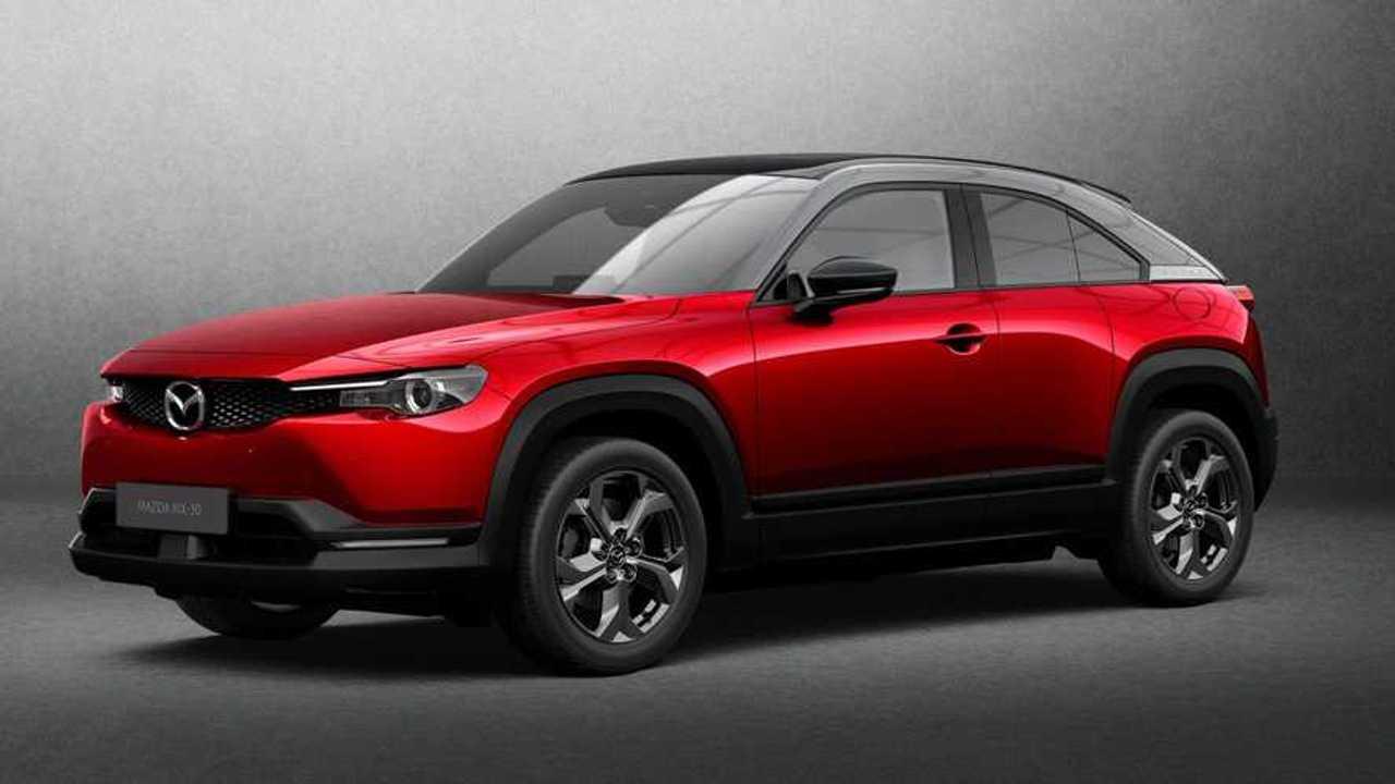 Mazda MX-30 red angled photo