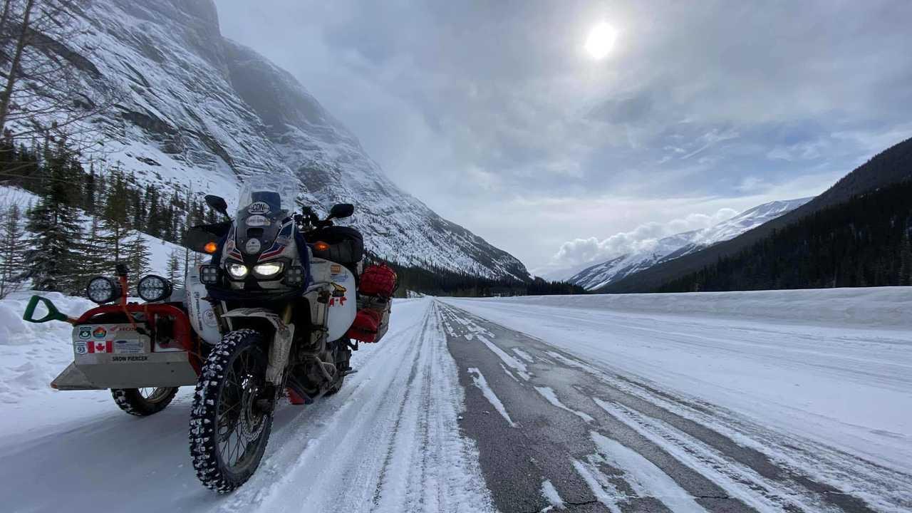 Ron Bedard's Honda Africa Twin Journey - Snowy View