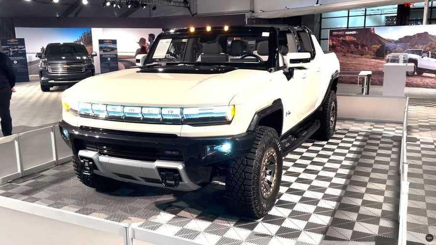 See GMC Hummer EV At Charity Auction Display