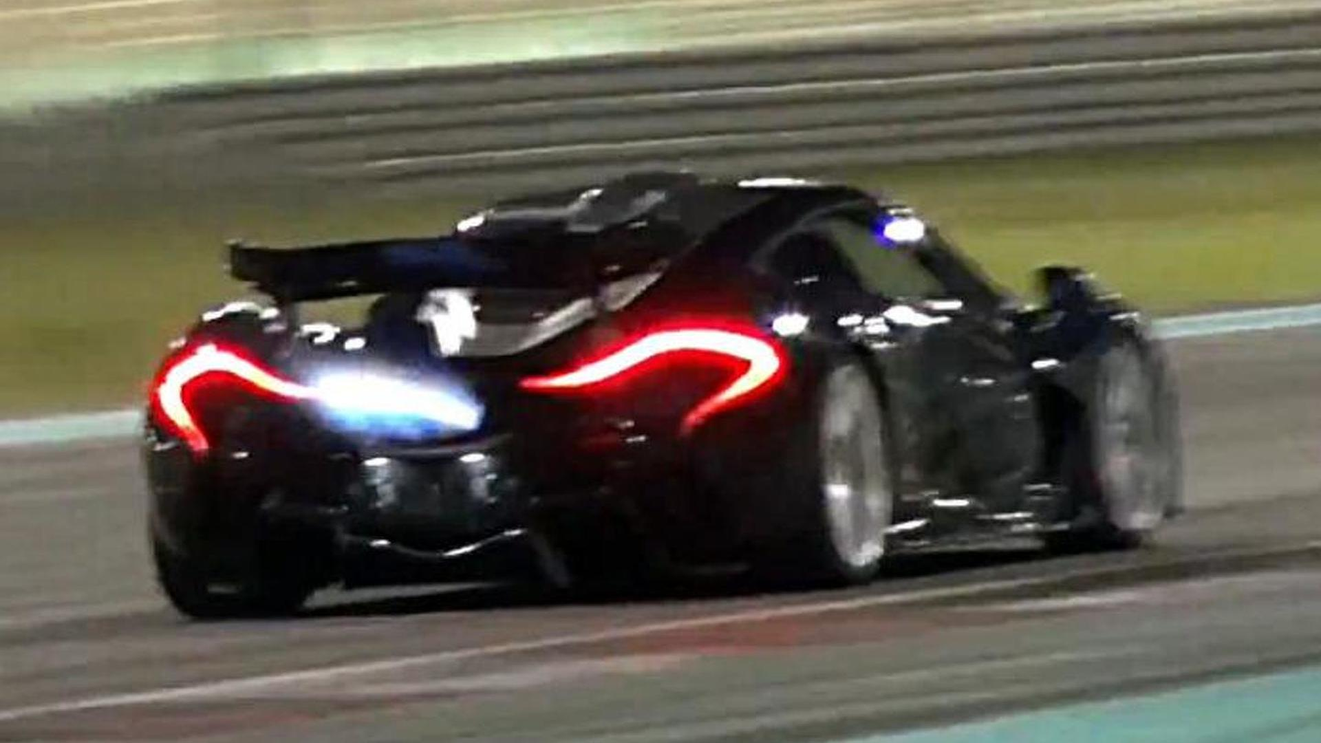 Mclaren P1 Has A Flame Throwing Session At Yas Marina Video