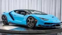 Lamborghini Centenario bleue