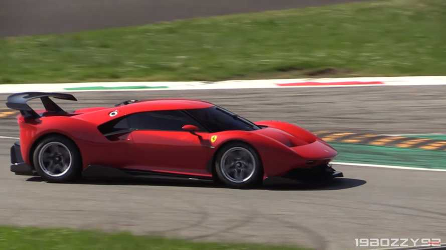 Stunning Ferrari P80/C Spotted Lapping Monza For A Video Shoot