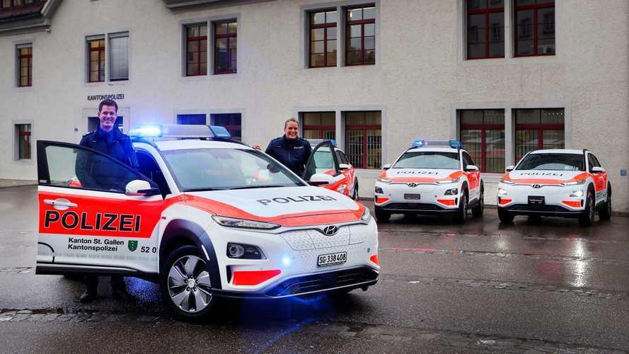 Hyundai Kona electric - Police suisse