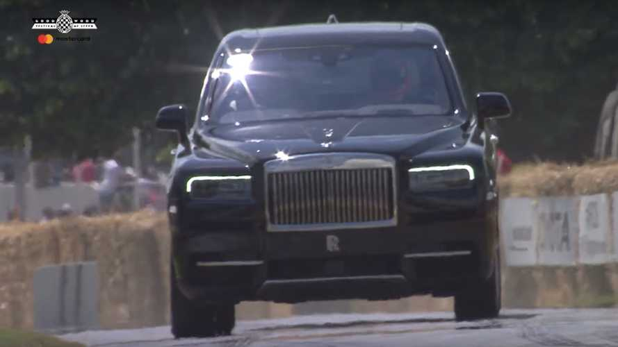 Rolls-Royce Cullinan went flat out at the Goodwood hill
