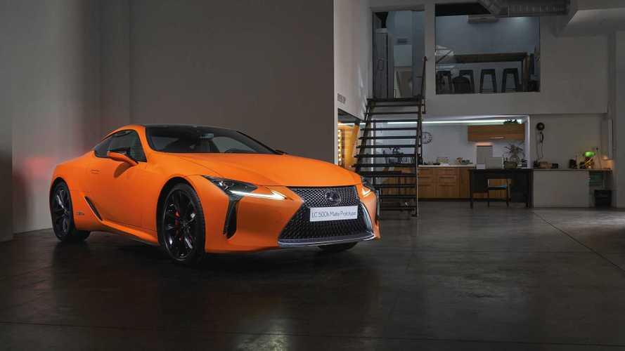 Lexus LC 500h 2019 MATTE PROTOTYPE: experimento de color y textura