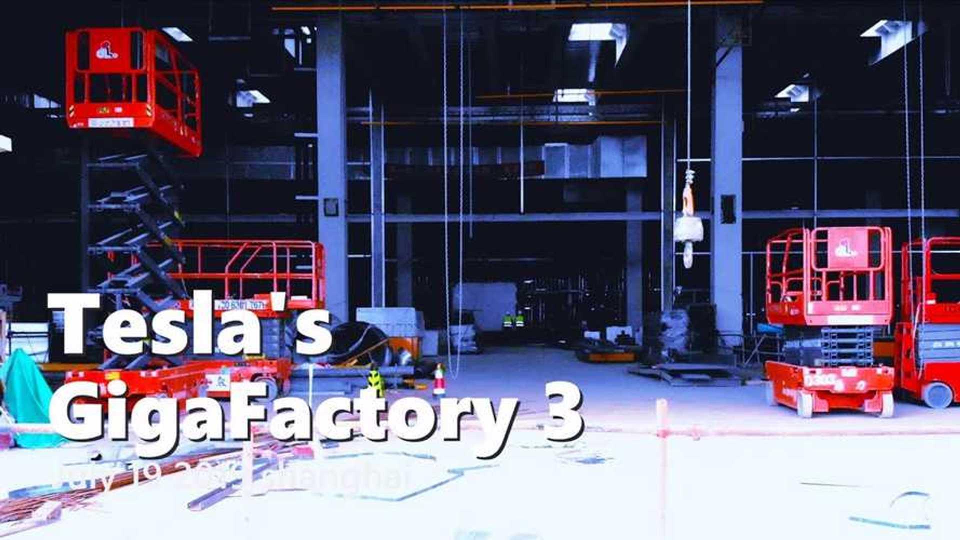 Tesla Gigafactory 3 Construction Progress July 19, 2019: Video