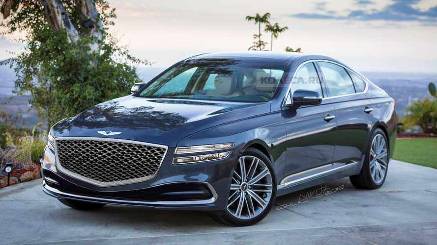 New Genesis G80 Drops Its Camo In Digital Rendering