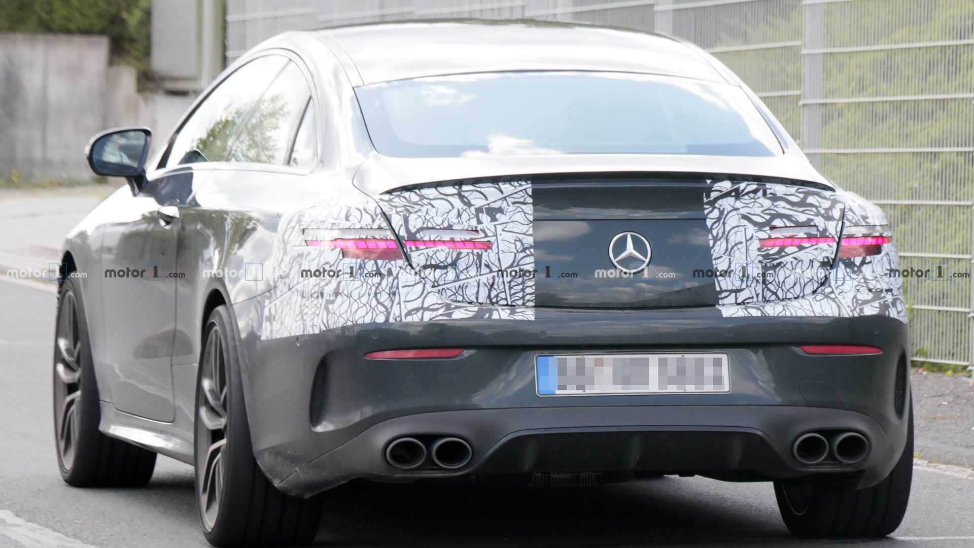 2021 Mercedes-AMG E53 Coupe spied with new headlights ...