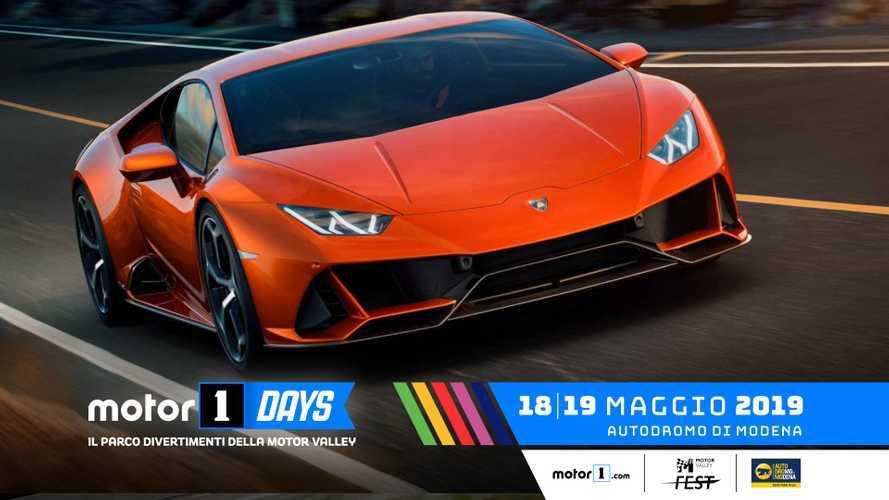 Lamborghini porta (Centro) Stile e adrenalina ai Motor1Days