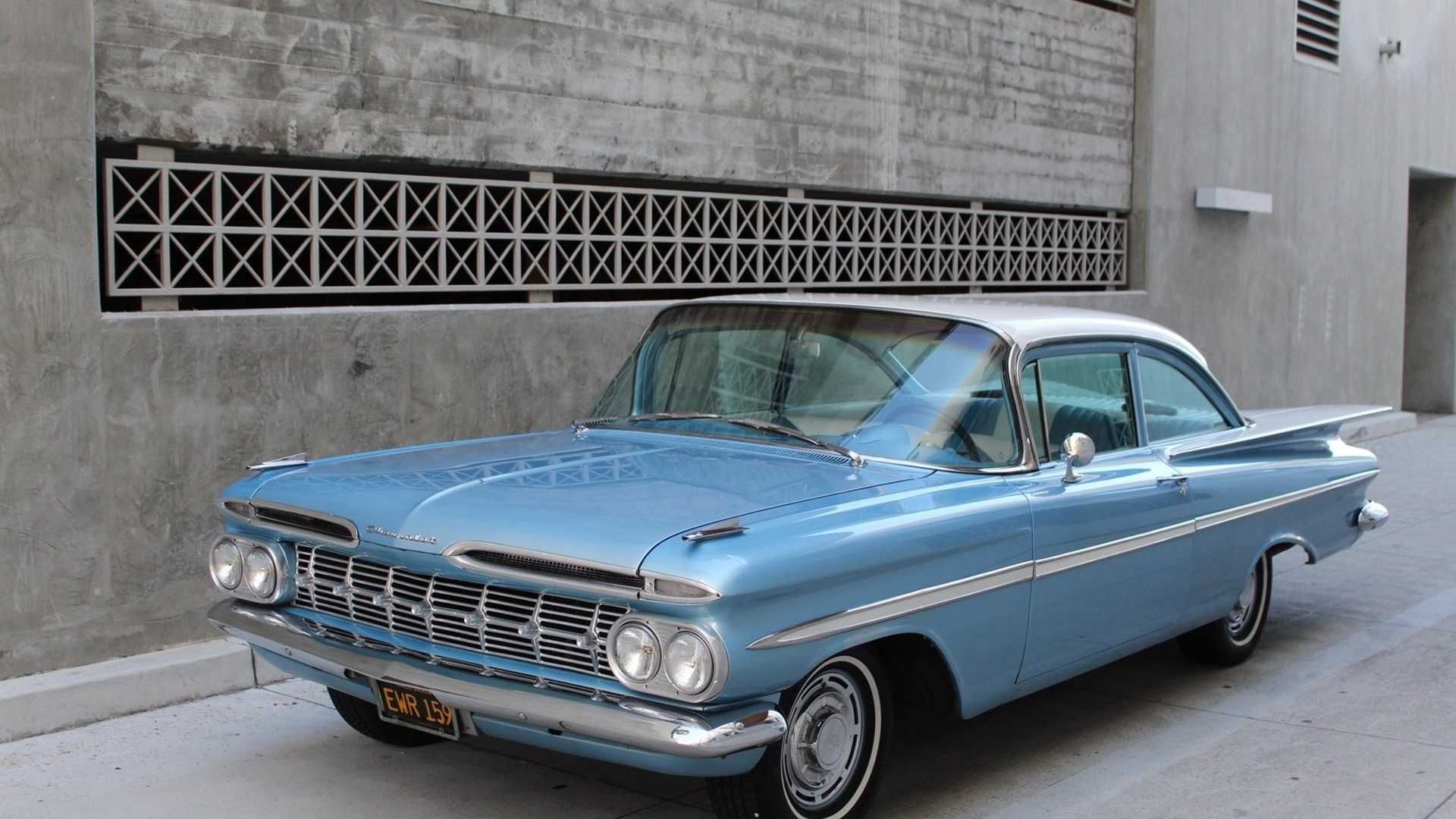 Cool Off Summer With A Frost Blue 1959 Chevrolet Bel Air Motorious