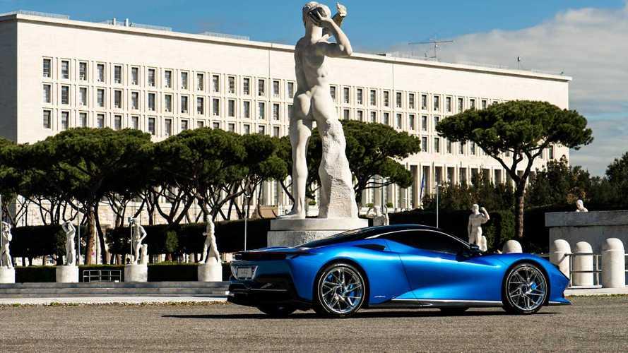Pininfarina Battista alla Formula E di Roma