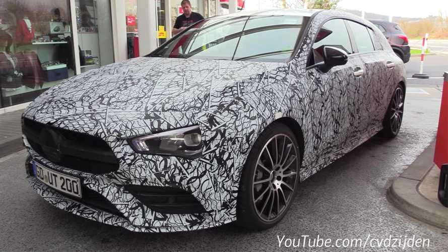 Mercedes-AMG CLA 35 Shooting Brake spied on the Nürburgring