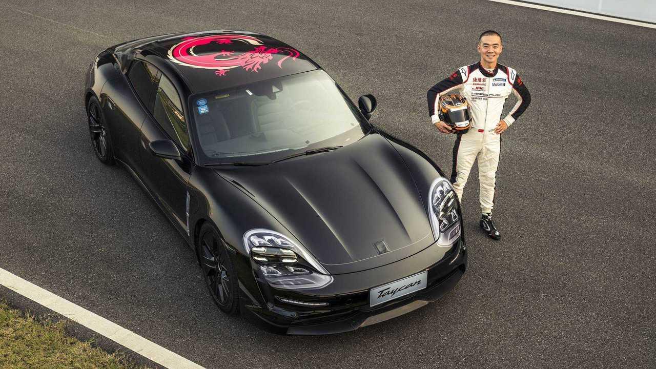 2020 Porsche Taycan prototype shows up in Shanghai