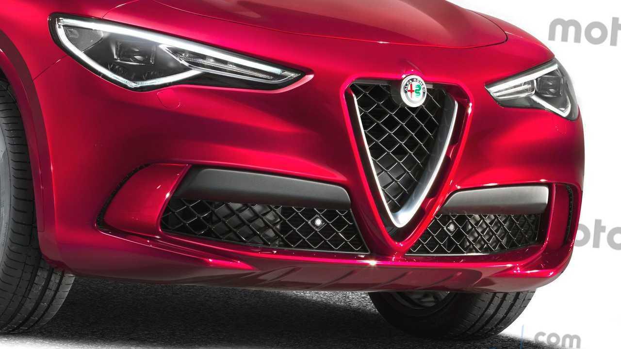 Alfa Romeo Stelvio restyling, il rendering