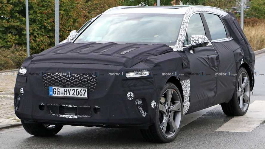 Genesis GV80 Spied Under Camouflage During European Development