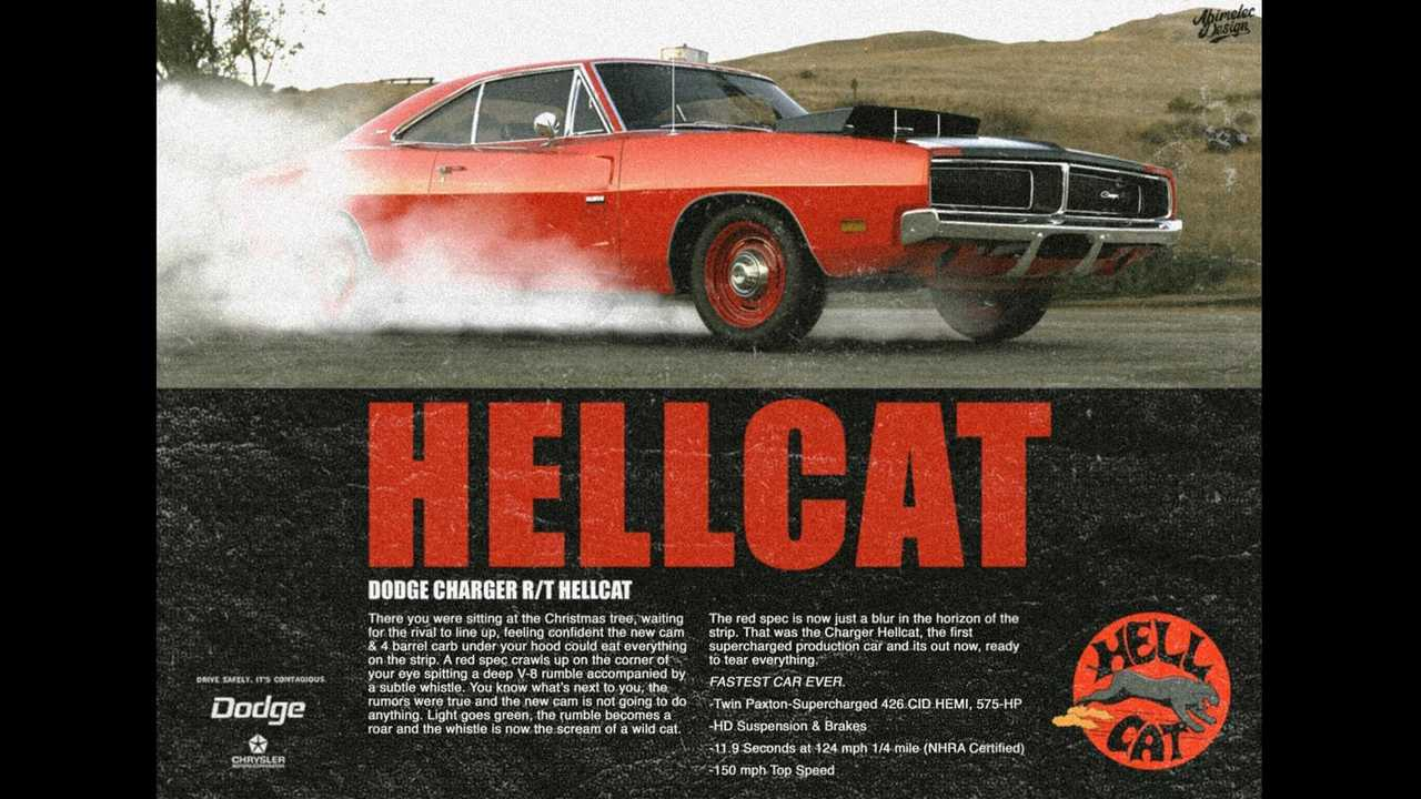 1969 Dodge Charger R/T Hellcat Rendering
