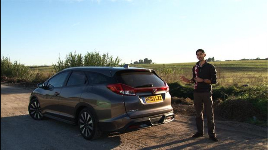 Honda Civic Tourer, la prova su strada [VIDEO]