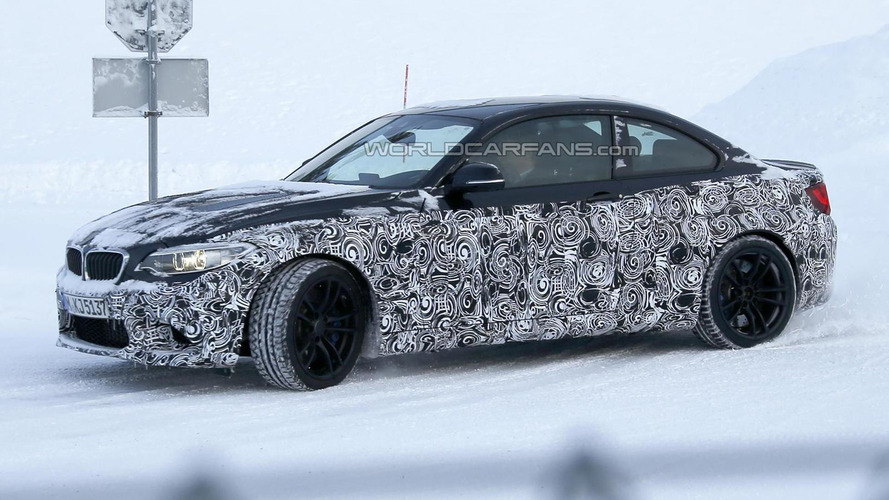 BMW M2 plays in the snow in latest spy shots