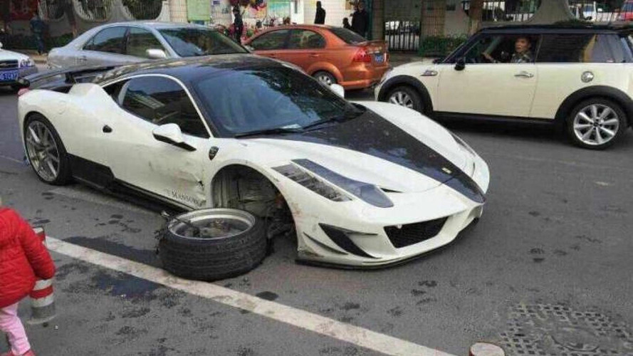 Rare Mansory Ferrari 458 Siracusa crashed heavily in China