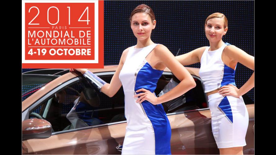 Pariser Autosalon: Heiße Girls neben coolem Blech