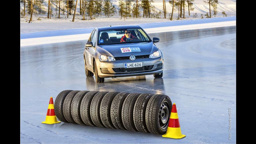 Zehn Marken-Winterreifen der Saison 2014/2015 im GTÜ-Praxistest